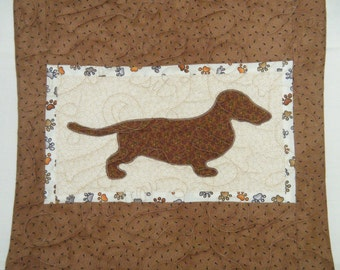 Dachshund - Quilted Dog throw pillow 16 inches