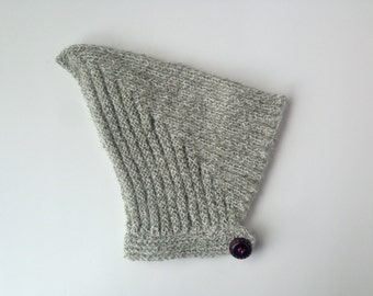 Green and white baby pixie hat