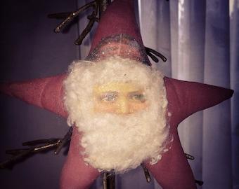 Hello Summer Sale Primitive Santa Ornie