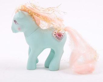 My Little Pony G1 Princess Serena, Blue Body, Heart Symbol, Pink Tinsel Hair ~ Pink Room ~ 161205