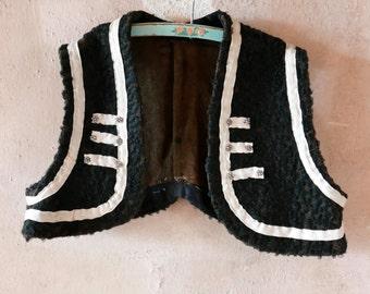 Victorian Boy's Boucle Vest