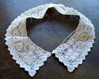 Antique Aryshire Whitework Collar