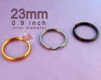 15 pieces 23mm split rings / key rings (available in antique brass and nickel color finish)