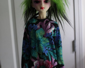 Retro Dark Floral Sweat Shirt for 60cm SD BJD 1/3 Dolls