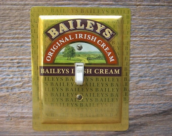 Light Switchplate Switchplates Cover Switch Covers Plate Plates Made From Old Tin Cans Bar Decor Baileys Irish Cream Tins SP-0260