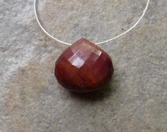 AAA Creamy Mookaite Faceted Heart Briolette - 9mm