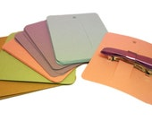 Hair Clip Cards, Set of 30, Jewelry Supply, Clippie Card, Product Tag, 3 x 3 1/2 inch, Pastels