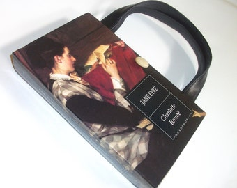 Jane Eyre Charlotte Bronte  Book Purse Novel Handbag, Book Bag