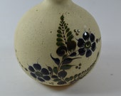 vintage mexican pottery flower floral vase folk art