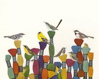 Yarn garden. Original collage by Vivienne Strauss.
