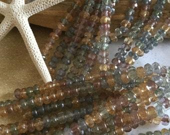 3x5 mm Czech glass beads-faceted Picasso Czech glass Rondelles-glass Rondelles-glass bead-strand glass Rondelles bead-beading supplies