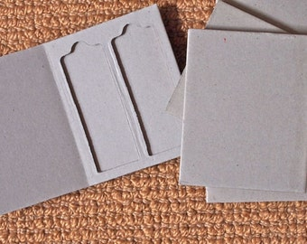 5 Chipboard Microscope Slide Holders/Mailers - Double