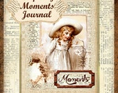 Defining Moments Vintage Dictionary Mini Book Junk Journal 22 Papers, 40 Embellishments, 10 Backgrounds Digital Printable INSTANT DOWNLOAD