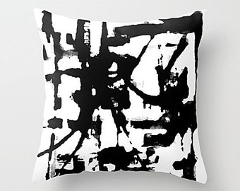 Black And White, Pillow Cover, Art Pillow, Throw Pillow, Cushion Cover, Sofa Pillow, Couch Pillow, Abstract Pillow, Abstract Art