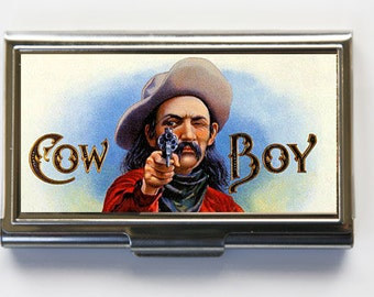 Cowboy Business Card Holder Card Case