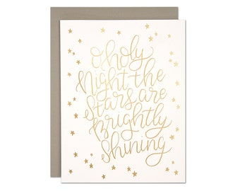 O Holy Night Foil Card
