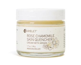 Rose Chamomile Face Cream| Sensitive Skin Face Cream| Irritated Skin Cream| Natural Firming Face Cream| Firming Facial Moisturizer| Organic