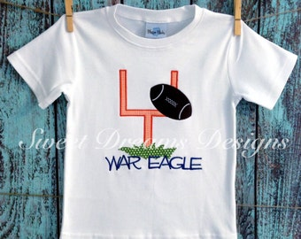 Boys field goal shirt. Favorite team name included. Long and short sleeves available.