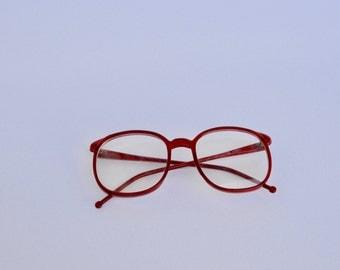 oversized RED glasses