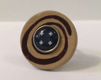 Mesmerize - Stacked Button Ring