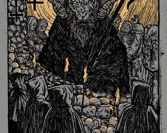 Black Sabbath The End Ozzy Osbourne Satan Devil Black Mass Baphomet GIGART Poster 2016