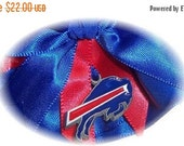 SALE 10% OFF Handmade Wedding Garter with Buffalo Bills charm Keepsake Satin RR