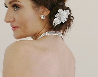 Modern Wedding, Bridal Hair Comb, Big Sur Wedding, Crystal Hair Comb, Crystal Hair Slide