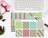 Happy Holidays Merry Christmas Planner Sticker Kit Erin Condren Horizontal Stickers