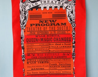 vintage theatre towel