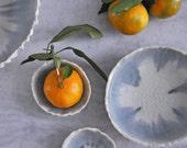Large Layered Gray Geode Bowl - Porcelain Bowl Large White Ceramic Bowl
