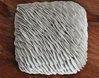 DISCOUNTED-  Magnolia - Large Textured Wall Tile - Ceramic Wall Sculpture Wall Tile