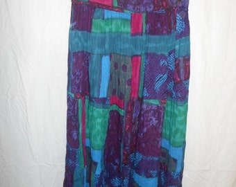 90's colorful cotton skirt