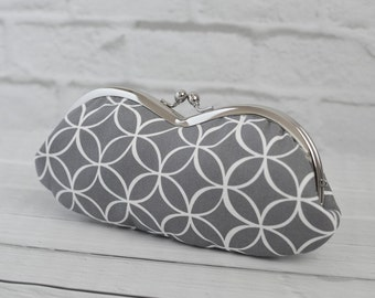 Women's Sunglass Eyeglass Case Modern Gray Tiles
