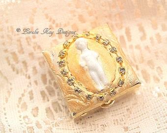 Frozen Charlotte Pill Box Tiny Frozen Charlotte Doll Mixed Media Small Pillbox Mother's Day Gift