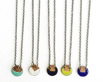 Small Enamel Necklaces