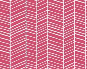 CLEARANCE 3 Yards Joel Dewberry Herringbone in Pink Fabric