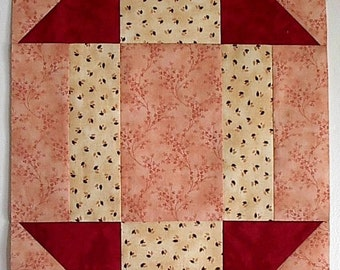 Stretched Churn Dash Quilt block