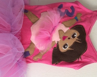 Dora Leotard Tutu - Dora Tutu - Dora Dress- Dora Birthday Party - Dora Costume- Dora Ballerina