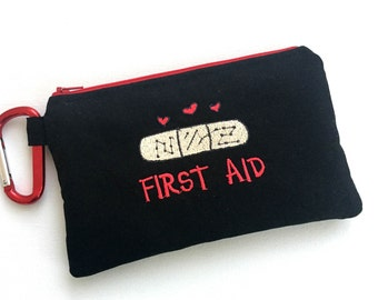 First Aid Kit, Medical Pouch, Emergency bag, Boo Boo Bag, Fully Stocked, Travel bag, Ouchie Bag, Medical Supplies