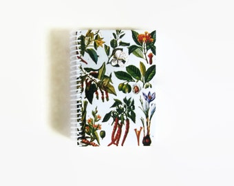 Herbs and Spices Recipe Journal, Sketchbook, Spiral Bound Writing Journal, Spiral Blank Pocket Notebook, A6 Cute Notebook, Journal Diary