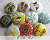 Pinback Buttons Collectors LIMITED Edition Set - Winter 2015-2016 - 10 Button Badges Pins