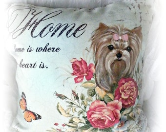 Custom Hand Painted Your Furbaby!  Decorative Pillow Dog Art by SugarspiceArt