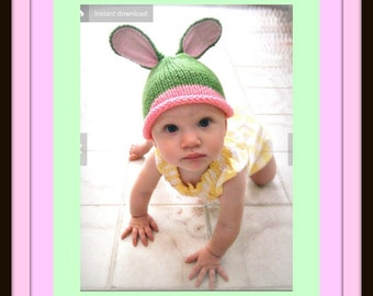 Baby Girl Boy Pattern for Bunny hat / Instant Download