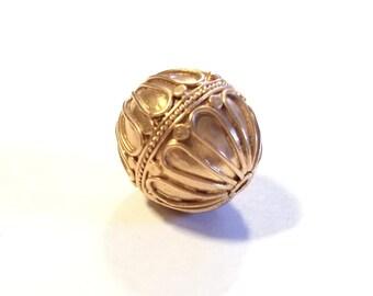 Rose Gold Bali Round Ball Bead 17mm long