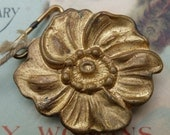 Vintage Brass Buckle Flower