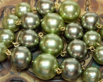Vintage Glass Pearl Bead Greens Supply