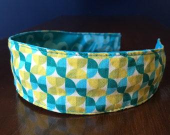 Comfortable Headband-- Washable, Reversible-- with Joel Dewberry Hourglass design