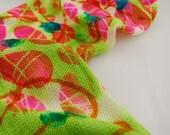 "Sparkle Knit Sock Blank - ""Alien Egg"" created with Fluorescent green dye"