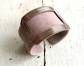 Handmade Grey Adjustable Cuff Bracelet