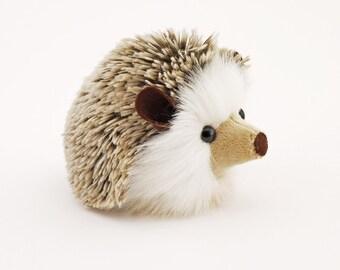 Stuffed Hedgehog Stuffed Animal Sebastian the Plush Toy Brown Hedgehog Kawaii Plushie Fuzzy Cute Cuddly Faux Fur Toy Small 4x5 Inches